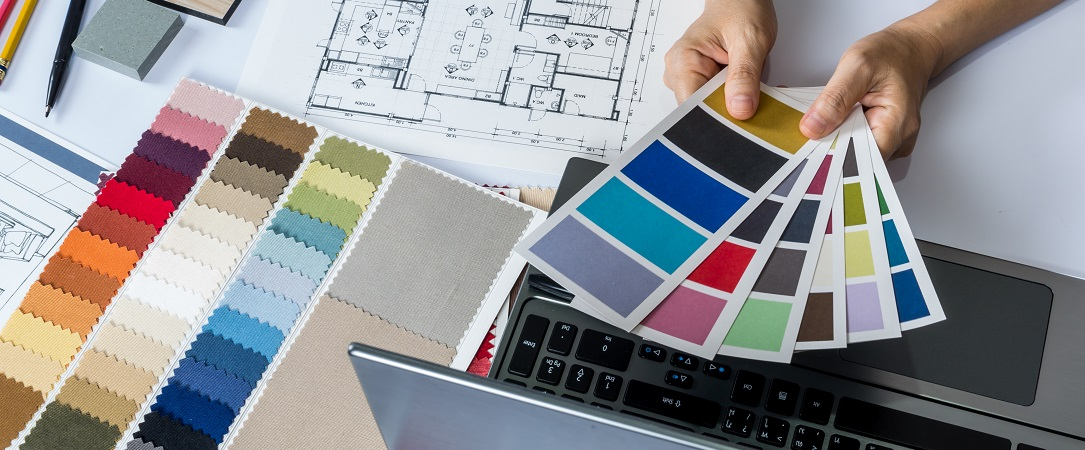 Colour charts and house plans